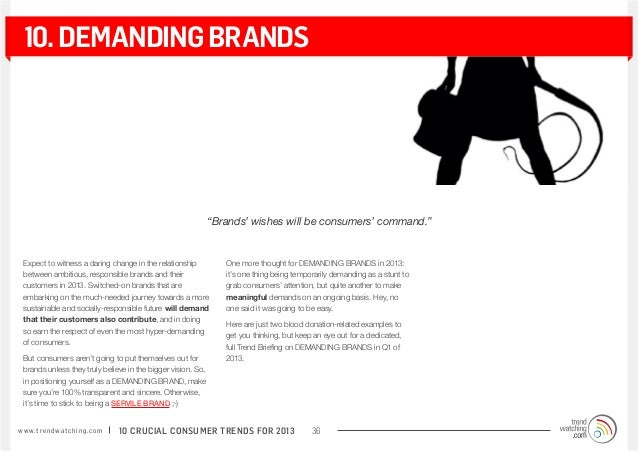 """10. demanding brands                                                               """"Brands' wishes will be consumers' comm..."""