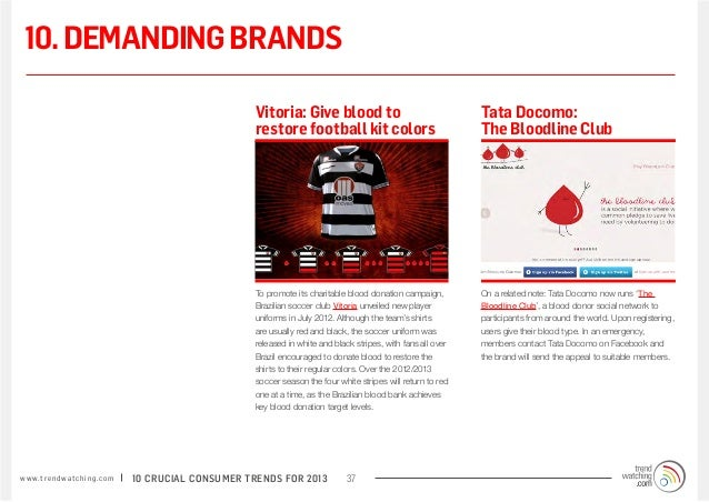 10. DEMANDING BRANDS                                                                 Vitoria: Give blood to               ...