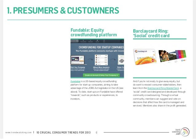 1. PRESUMERS & CUSTOWNERS                                                                 Fundable: Equity                ...