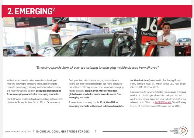"""2. EMERGING2                                           """"Emerging brands from all over are catering to emerging middle clas..."""