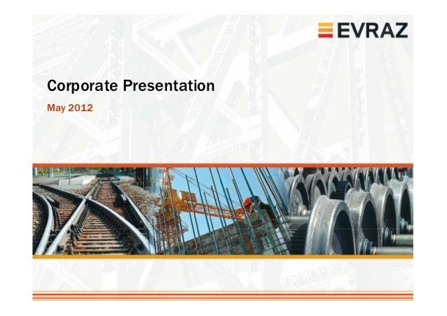 Corporate PresentationMay 2012