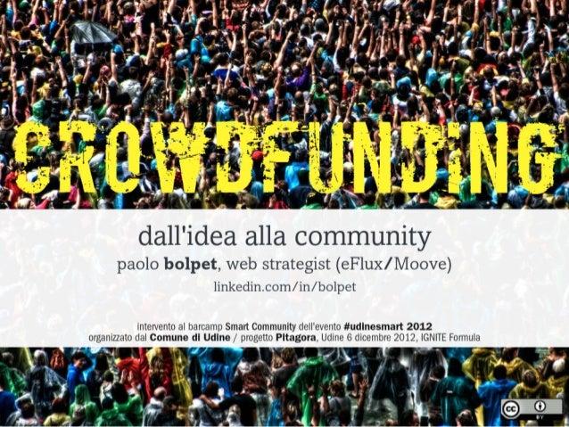 Crowdfunding: dall'idea alla community