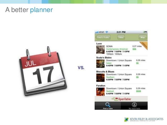 A better planner                   VS.