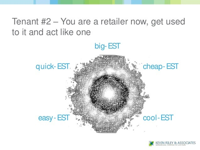 Tenant #2 – You are a retailer now, get usedto it and act like one                     big- EST      quick- EST           ...