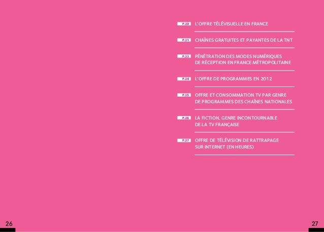p.30   L'offre télévisuelle en France     p.31   Chaînes gratuites et payantes de la TNT     p.33   Pénétration des modes ...