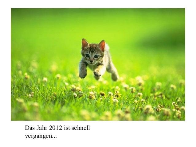 Das Jahr 2012 ist schnellvergangen...