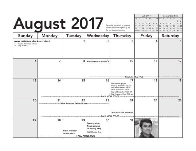 2017-18  HCPSS AB-Calendar