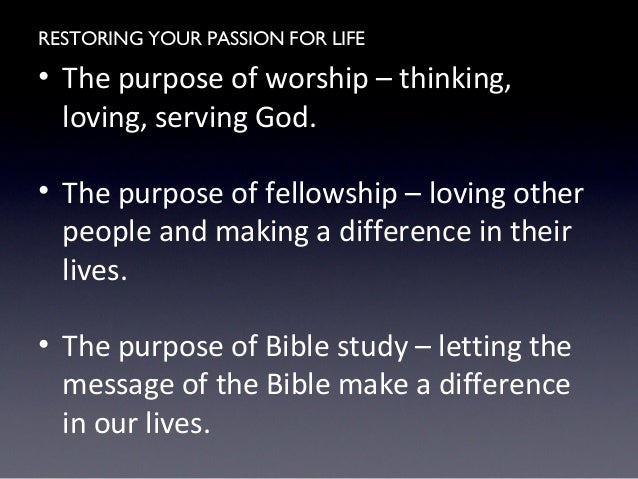 Restoring Your Passion For Life