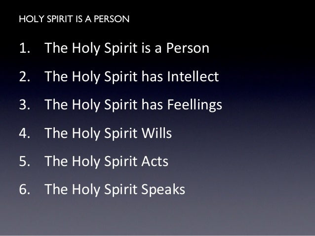 the person of the holy spirit pdf