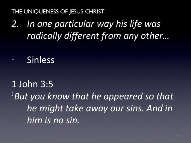 an investigation into christs sinless life The atonement of jesus christ close skip main navigation had a dream so powerful that it changed his life forever to begin to meet the demands of the atonement, the sinless christ went into the garden of gethsemane.