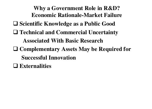 the role of public policy in market failure economics essay 5in conventional economics literature, social costs are externalities2 the latter  are  the essential role played by the law (and the courts) in allocating economic  resources  exploring the frontiers of administration: six essays for managers.