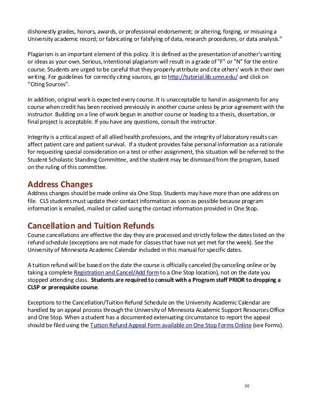 Umn Academic Calendar.2012 2013 Cls Studenthandbookfinal1