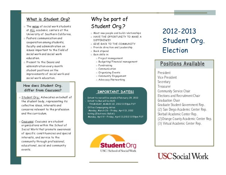 What is Student Org?                       Why be part of   o The voice of social work students          Student Org.?    ...