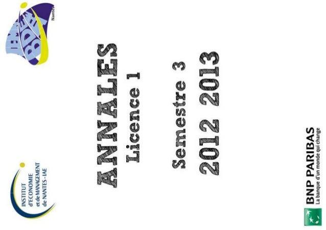 2012 2013 L1 semestre 1