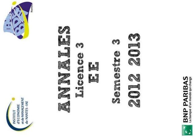 2012 2013 L3 semestre 1