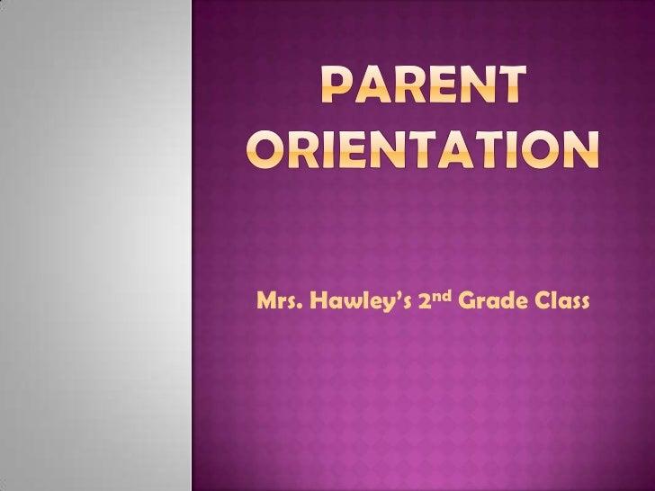 Mrs. Hawley's 2nd Grade Class