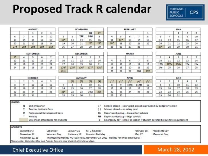 School Calendar Presentation