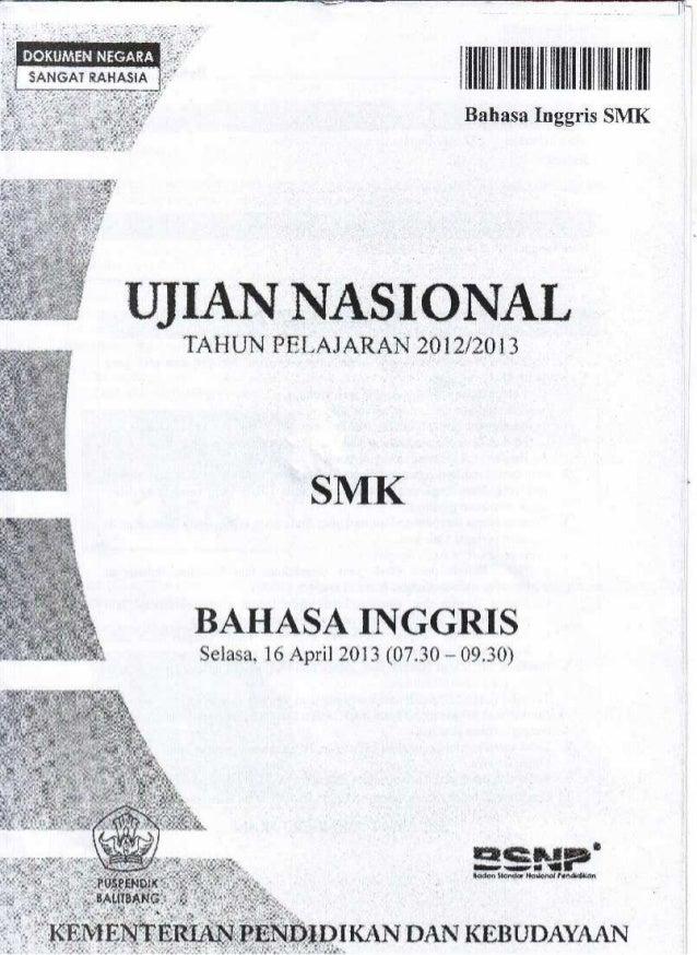 IIIIIIHIIIIIIIIIIIIIJIIIIII | H|| |l| l|ll| |!  Bahasa Inggris SMK         UJIAN NASIONAL  TAHUN PELAJARAN 2012/2013  SMK ...