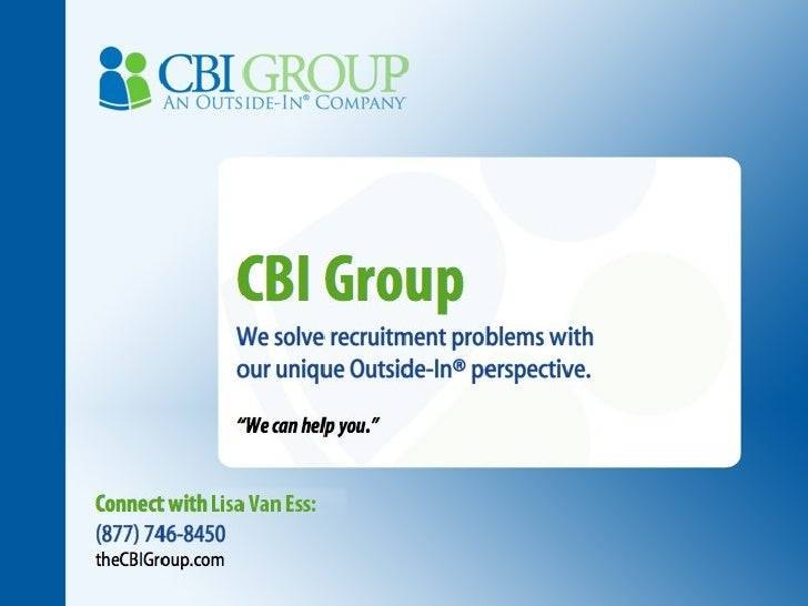 CBI Group Story - Connect with Lisa Van Ess