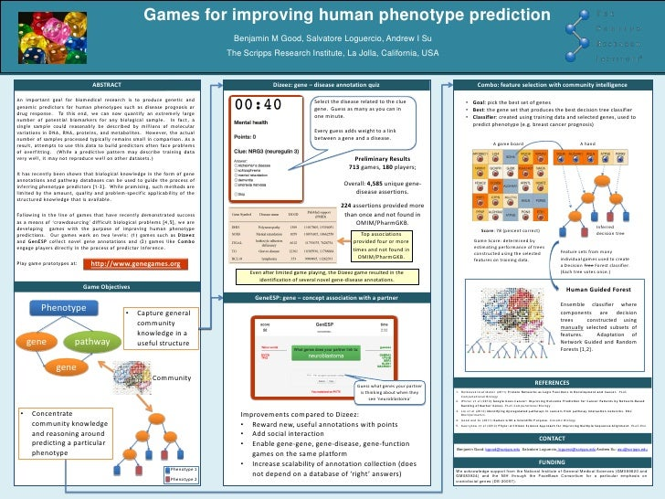 Games for improving human phenotype prediction                                                                            ...