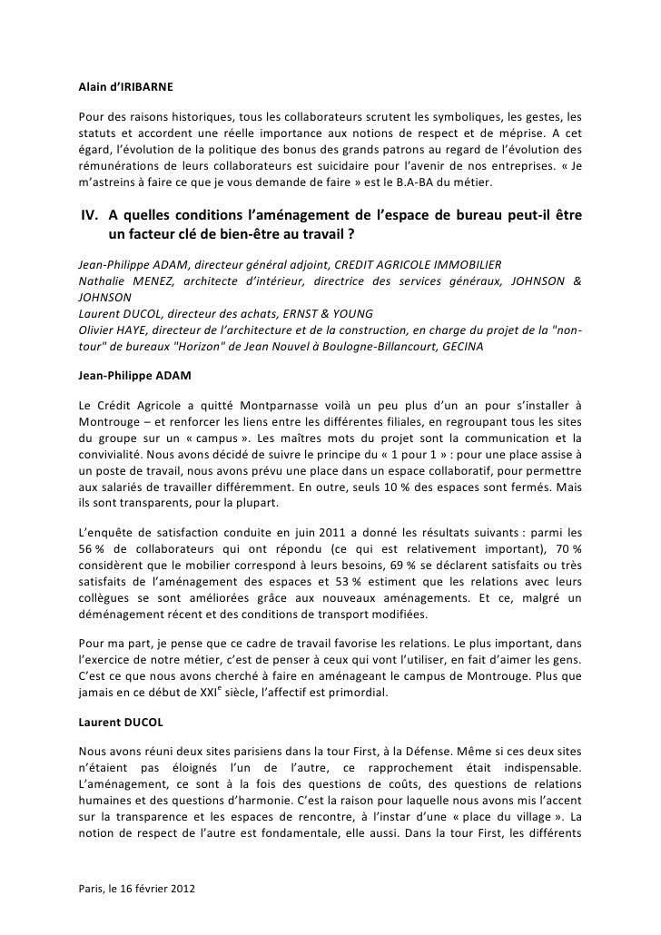Alain d'IRIBARNEPour des raisons historiques, tous les collaborateurs scrutent les symboliques, les gestes, lesstatuts et ...