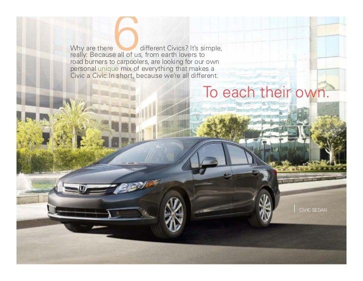 2012 Honda Civic line Brochure Full model line