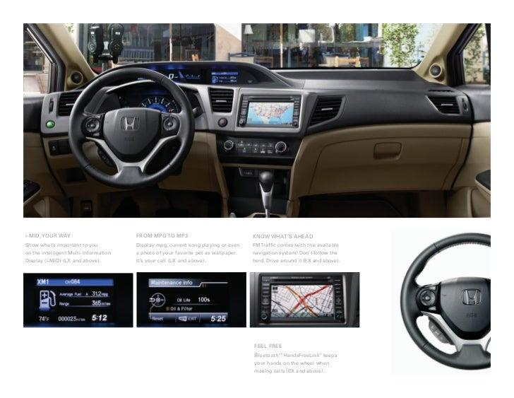2012 Honda Civic Hybrid Sedan Brochure in Tampa Florida Dealer