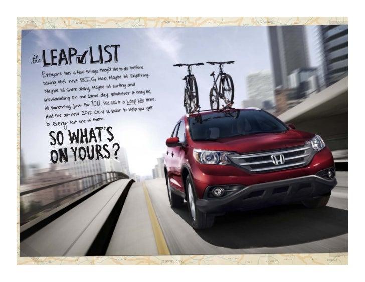 2012 honda cr v brochure by neil huffman honda for Honda cr v brochure
