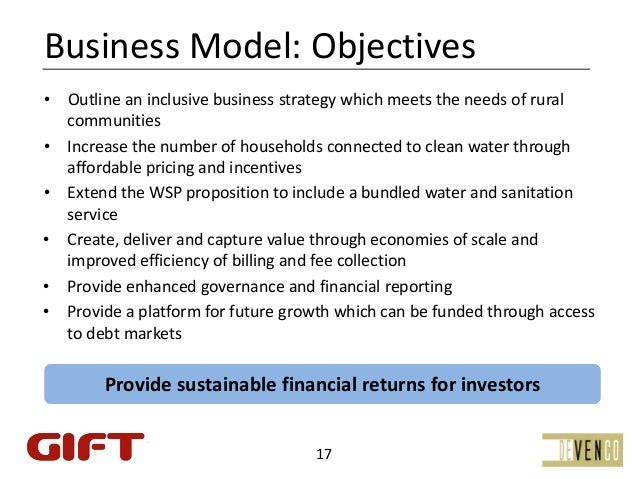 BusinessModel:Objectives•   Outlineaninclusivebusinessstrategywhichmeetstheneedsofrural    communities•   Inc...