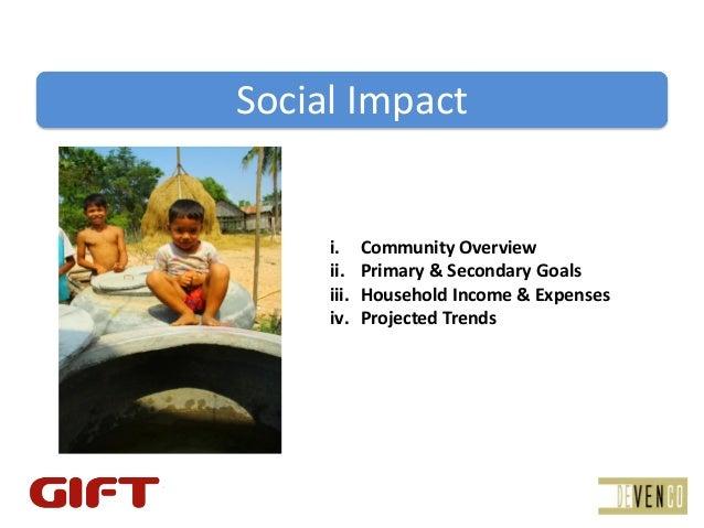 SocialImpact     i.     CommunityOverview     ii.    Primary&SecondaryGoals     iii.   HouseholdIncome&Expenses   ...
