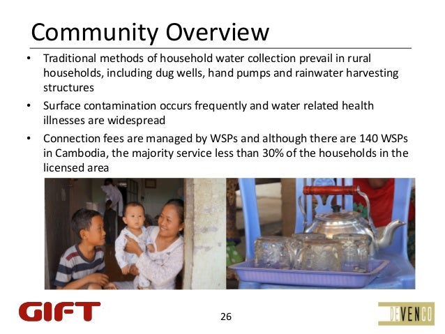 CommunityOverview• Traditionalmethodsofhouseholdwatercollectionprevailinrural  households,includingdugwells,...