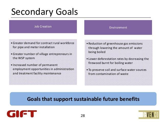 SecondaryGoals                 JobCreation                                         Environment• Greaterdemandforcontr...