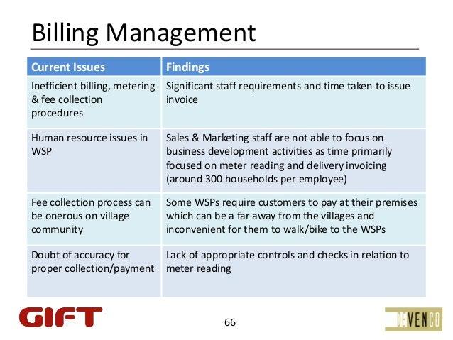 BillingManagementCurrentIssues               FindingsInefficientbilling,metering Significantstaffrequirementsand...