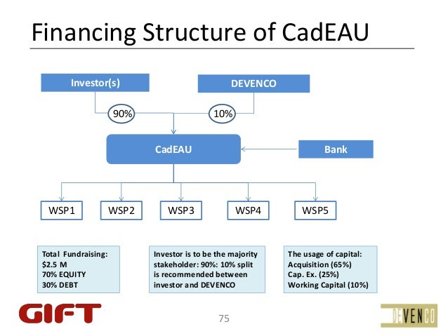 FinancingStructureofCadEAU        Investor(s)                                 DEVENCO                       90%        ...