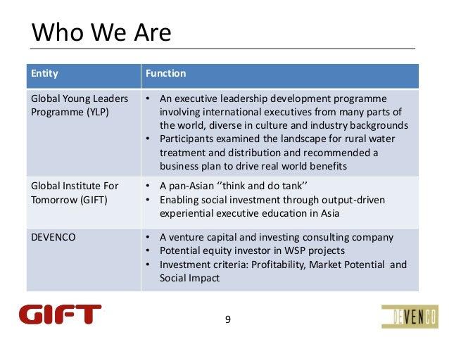 WhoWeAreEntity                  FunctionGlobalYoungLeaders   • AnexecutiveleadershipdevelopmentprogrammeProgramme...