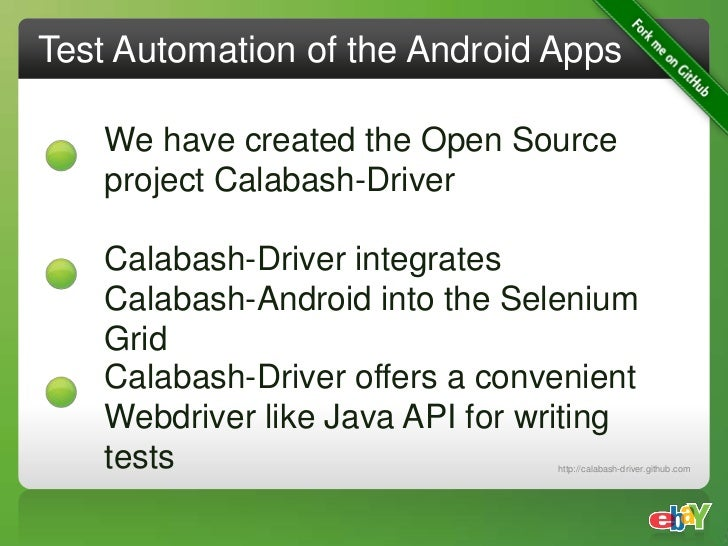 Mobile Test Automation at eBay