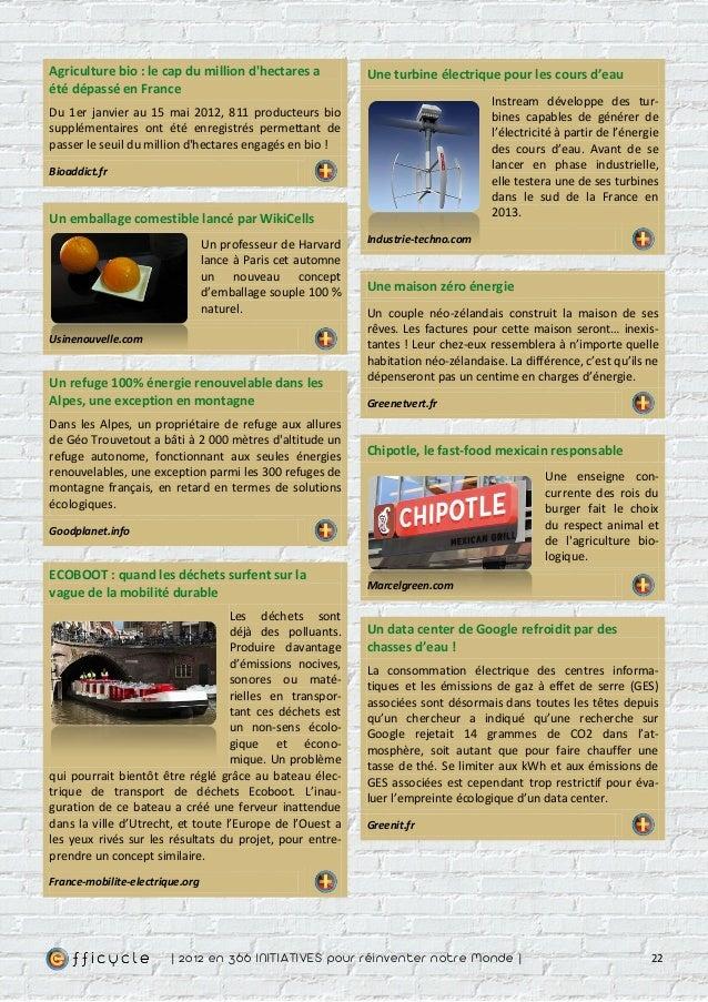 Agriculture bio : le cap du million dhectares a             Une turbine électrique pour les cours d'eauété dépassé en Fran...