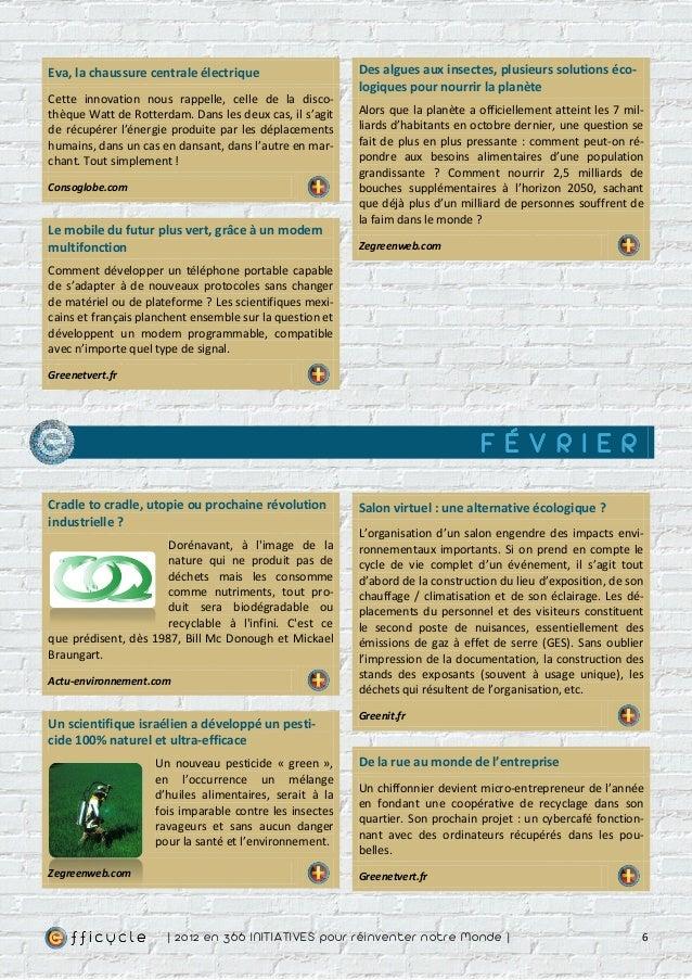 Eva, la chaussure centrale électrique                     Des algues aux insectes, plusieurs solutions éco-               ...
