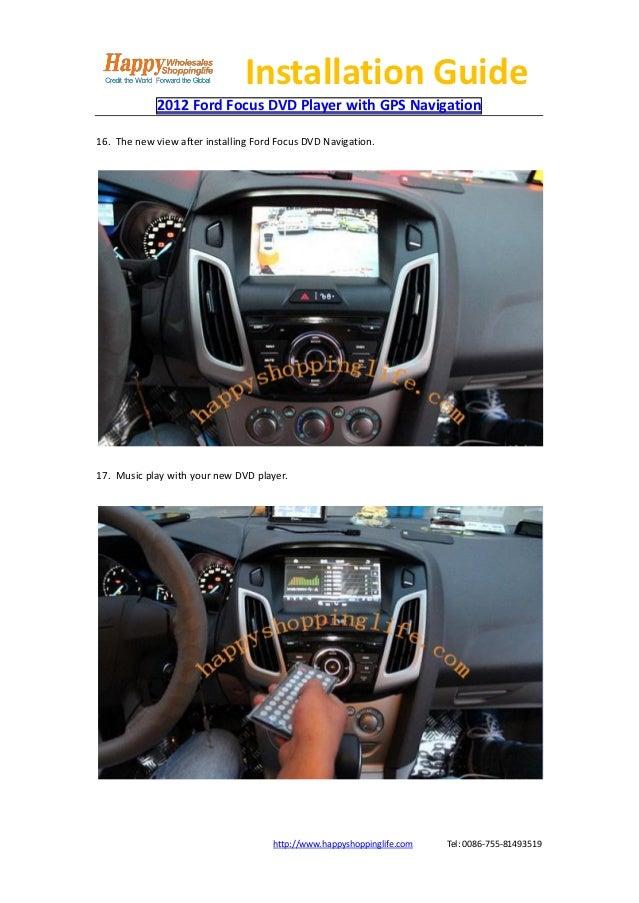 2012 ford focus dvd player gps navigation installation guide. Black Bedroom Furniture Sets. Home Design Ideas