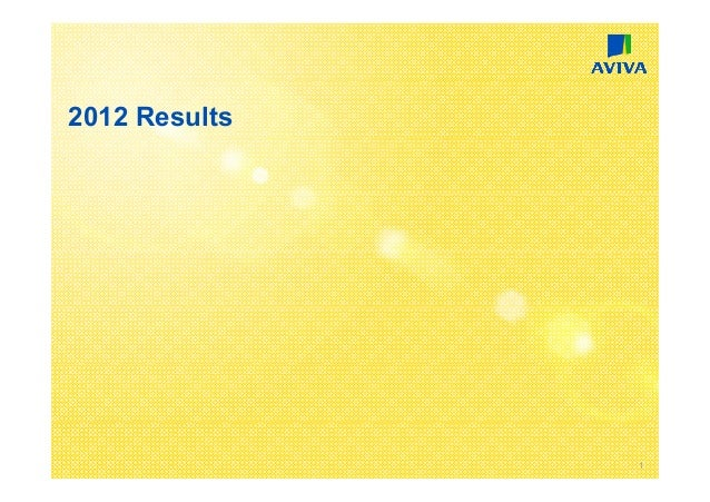 2012 Results               1