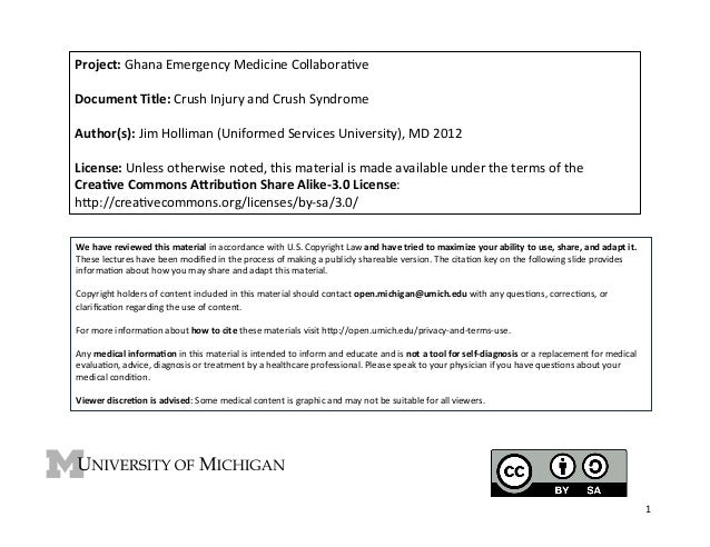 Project:  Ghana  Emergency  Medicine  Collabora4ve      Document  Title:  Crush  Injury  and  Crush...