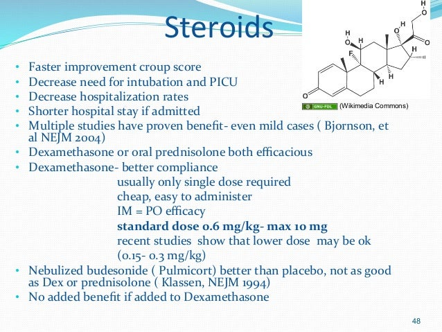 oral steroids for croup side effects