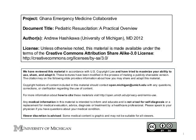 Project: Ghana Emergency Medicine Collaborative Document Title: Pediatric Resuscitation: A Practical Overview Author(s): A...