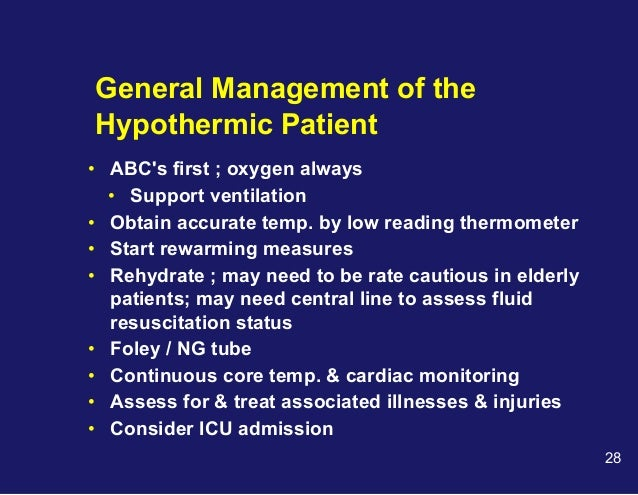 Hypothermia in elderly patients characteristics and prognosis