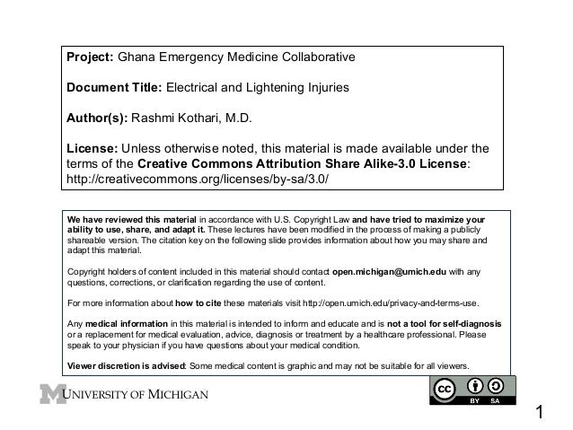 Project: Ghana Emergency Medicine Collaborative Document Title: Electrical and Lightening Injuries Author(s): Rashmi Kotha...