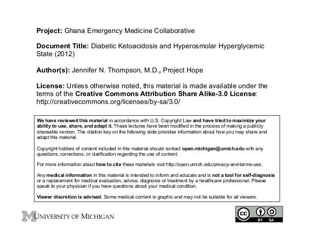 Project: Ghana Emergency Medicine Collaborative Document Title: Diabetic Ketoacidosis and Hyperosmolar Hyperglycemic State...