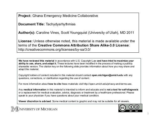 Project: Ghana Emergency Medicine Collaborative Document Title: Tachydysrhythmias Author(s): Caroline Vines, Scott Youngqu...