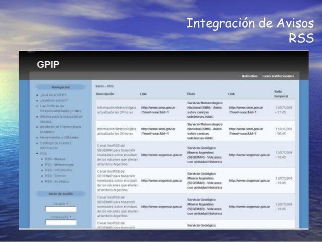 Integración de Avisos RSS