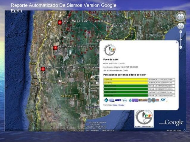 Reporte Automatizado De Sismos Version Google Earth