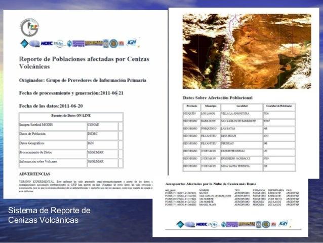 Sistema de Reporte de Cenizas Volcánicas